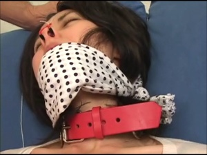 Roped Asian babe in a dress jeered with gags and nasal hooks roughly - XXXonXXX - Pic 4
