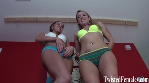 Two hot teenage sluts in sexy bikinies showing their amazing medel bodies and sexy feet - XXXonXXX - Pic 8