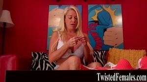 One hot sexy dirty blonde milf in white bra loves to talk dirty like a little slut - XXXonXXX - Pic 6