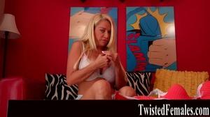 One hot sexy dirty blonde milf in white bra loves to talk dirty like a little slut - XXXonXXX - Pic 7