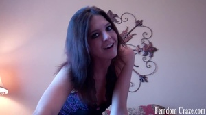 Young hot cute amazing brunette in sexy black dress sit on bed and tease - XXXonXXX - Pic 4