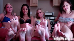 Four playful girls likes domination using their smooth and silky feet - XXXonXXX - Pic 3