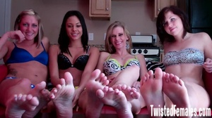 Four playful girls likes domination using their smooth and silky feet - XXXonXXX - Pic 4