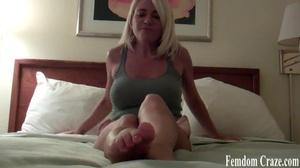 Busty babe in green tanktop dangles her alluring feet - XXXonXXX - Pic 7