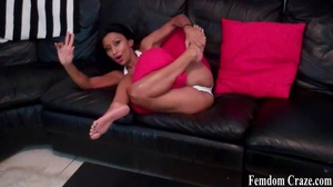 Busty latina shows off her sexy toned legs - XXXonXXX - Pic 3