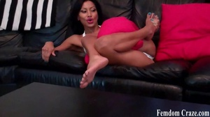 Busty latina shows off her sexy toned legs - XXXonXXX - Pic 8