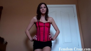 Brunette in red bustier strikes a lovely pose for a tease - XXXonXXX - Pic 4