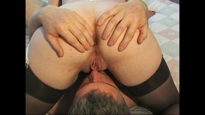 Slutty brunette mature in stockings taking a good load of facial - XXXonXXX - Pic 3