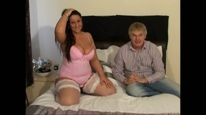Brunette milf with huge juggs wearing a sexy lingerie to fuck with her hubby's friend - XXXonXXX - Pic 2