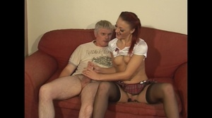 Small-titted ginger house goddess in stockings seduces her neighbor to dirty fucking - XXXonXXX - Pic 6