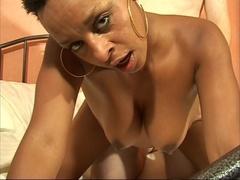 Horny black housewife swallows her hubby's boss cock - XXXonXXX