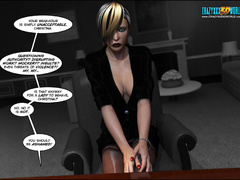 Bodacious babe in stockings getting banged - Cartoon Sex - Picture 1