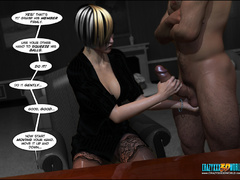 Bodacious babe in stockings getting banged - Cartoon Sex - Picture 4
