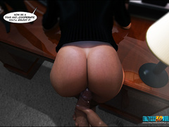 Bodacious babe in stockings getting banged - Cartoon Sex - Picture 8