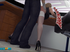 Young dude fucking hard a hot blondie in - Cartoon Sex - Picture 6