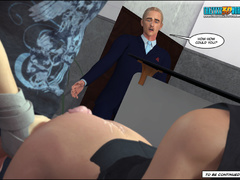 Very hot cartoon MILF in white stockings gets - Cartoon Sex - Picture 8