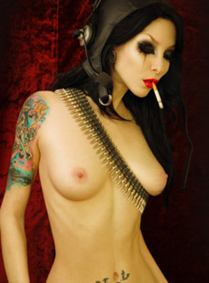 These tattooed goth sluts exposing themselves passionately. - XXXonXXX - Pic 3