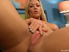Busty blonde MILF in high heels rubbing her slit - XXXonXXX - Pic 19