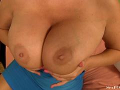 Busty blonde MILF takes a cumshot onto her huge - XXXonXXX - Pic 8
