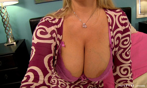Slutty blonde mom with huge melons getting pounded hard in various poses - XXXonXXX - Pic 8