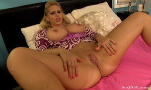 Slutty blonde mom with huge melons getting pounded hard in various poses - XXXonXXX - Pic 12