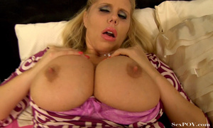 Slutty blonde mom with huge melons getting pounded hard in various poses - XXXonXXX - Pic 17
