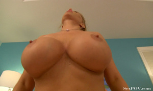 Slutty blonde mom with huge melons getting pounded hard in various poses - XXXonXXX - Pic 21