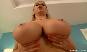 Slutty blonde mom with huge melons getting pounded hard in various poses - XXXonXXX - Pic 22