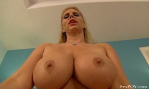 Slutty blonde mom with huge melons getting pounded hard in various poses - XXXonXXX - Pic 23
