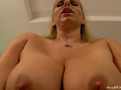 Slutty blonde mom with huge melons getting pounded - XXXonXXX - Pic 24