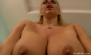 Slutty blonde mom with huge melons getting pounded hard in various poses - XXXonXXX - Pic 24