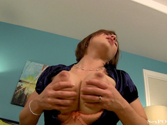 Busty ginger bitch showing off her stretched pussy - XXXonXXX - Pic 18