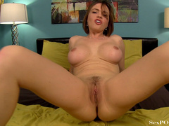 Busty ginger bitch showing off her stretched pussy - XXXonXXX - Pic 25