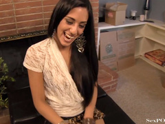 Pretty latina babe showing off her stretched pussy - XXXonXXX - Pic 5