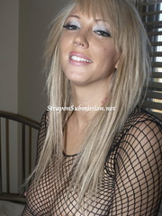 Busty blonde mom in fishnet blouse tugging dude's - XXXonXXX - Pic 3