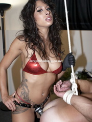 Hot brunette mistress in red bra and high boots - XXXonXXX - Pic 10