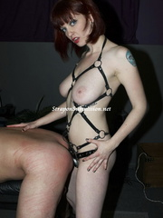 Busty brunette mistress drilling her enslaved - XXXonXXX - Pic 11