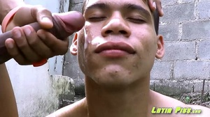 Horny latino dude washing his lover's face from sperm with his pee - XXXonXXX - Pic 2