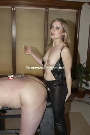 Submissive guy gets assdrilled hard with a strapon by his kinky teen girlfriend - XXXonXXX - Pic 9