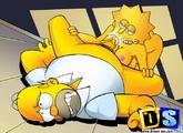 Les Simpson baisent passion - Pornodinguecom
