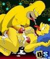 Marge Simpson can't get enough of cocks taking them in mouth and pussy