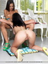 Two gorgeous girls enjoy each other's smooth naked…