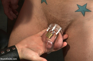Slave man gets tied and dominated plus w - XXX Dessert - Picture 1