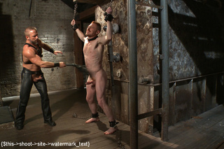 hot punishment guy chained