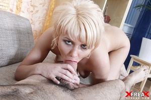 Sexy blonde has her butt hole widened by hard riding hard cock after blowjob - XXXonXXX - Pic 19