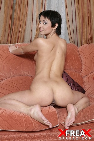 Short hair brunette rides on big cock in her ass and sucks cock for cum in mouth - XXXonXXX - Pic 12