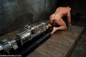 Gay dude plays with his cock as his tigh - XXX Dessert - Picture 9