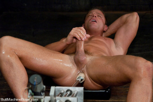 Gay dude plays with his cock as his tigh - XXX Dessert - Picture 11