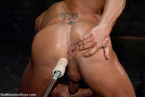 Gay dude plays with his cock as his tigh - XXX Dessert - Picture 12