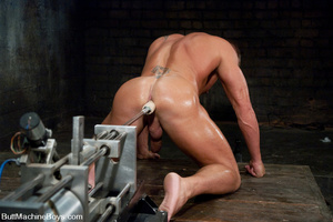 Gay dude plays with his cock as his tigh - XXX Dessert - Picture 13